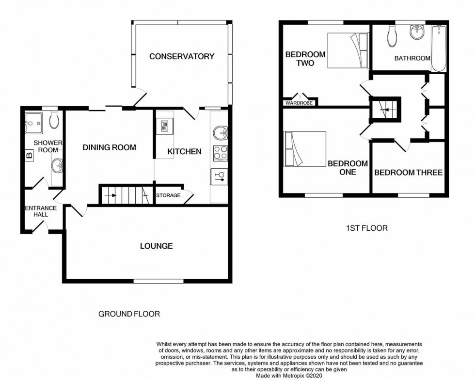Floorplan for Llanberis Close, Tonteg, Pontypridd